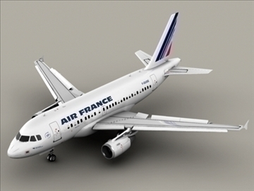 airbus a318 air france 3d model 3ds max obj 94847