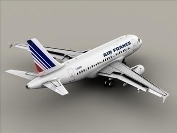 airbus a318 air france 3d model 3ds max obj 94848