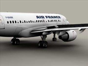 airbus a318 air france 3d model 3ds max obj 94849