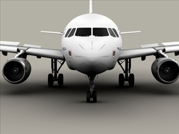 airbus a318 air france 3d model 3ds max obj 94850