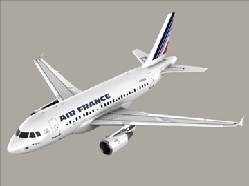 airbus a318 air france 3d model 3ds max obj 94853