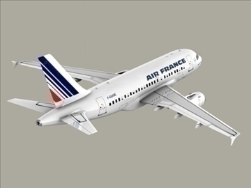 airbus a318 air france 3d model 3ds max obj 94854