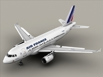 airbus a319 air francuska 3d model 3ds max obj 95401