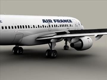 airbus a319 air france 3d model 3ds max obj 95403