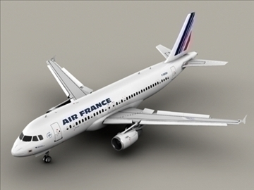 airbus a320 air france 3d model 3ds max obj 95534