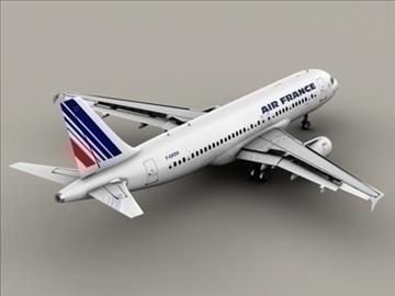 airbus a320 gaisa Francija 3d modelis 3ds max obj 95535