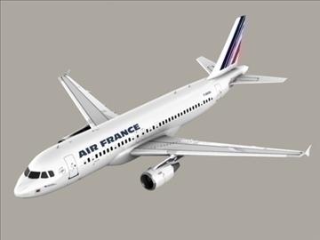 airbus a320 gaisa Francija 3d modelis 3ds max obj 95540