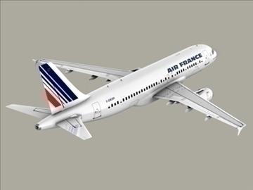 airbus a320 gaisa Francija 3d modelis 3ds max obj 95541