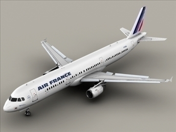 airbus a321 air france 3d model 3ds max obj 95544