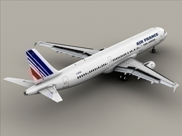 airbus a321 air france 3d model 3ds max obj 95545