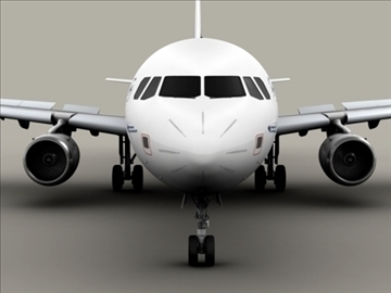 airbus a321 air france 3d model 3ds max obj 95547