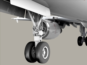 airbus a321 air france 3d model 3ds max obj 95548