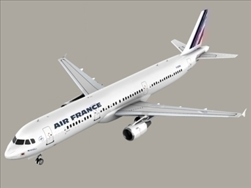 airbus a321 air france 3d model 3ds max obj 95550