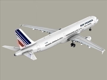 airbus a321 air france 3d model 3ds max obj 95551