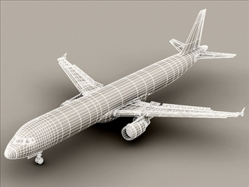 airbus a321 air france 3d model 3ds max obj 95552