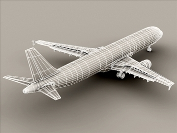 airbus a321 air france 3d model 3ds max obj 95553
