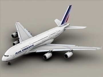 airbus a380 air france 3d model 3ds max obj 95572