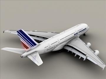 airbus a380 air france 3d model 3ds max obj 95573