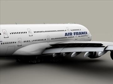 airbus a380 air france 3d model 3ds max obj 95574
