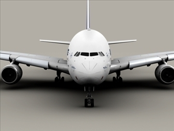 airbus a380 air france 3d model 3ds max obj 95575