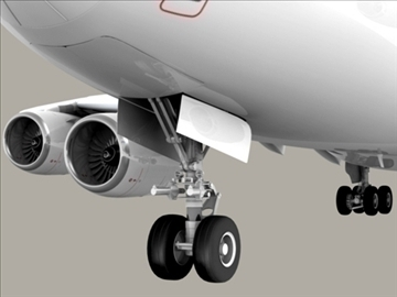 airbus a380 air france 3d model 3ds max obj 95576
