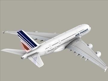 airbus a380 air france 3d model 3ds max obj 95579