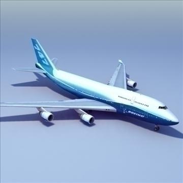 b747 boeing livery 3d model 3ds max x lwo ma mb hrc xsi texture obj 107792