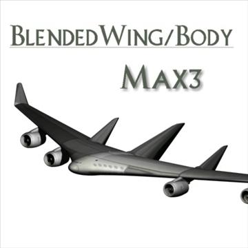 blended wingbody 3d model max 96063