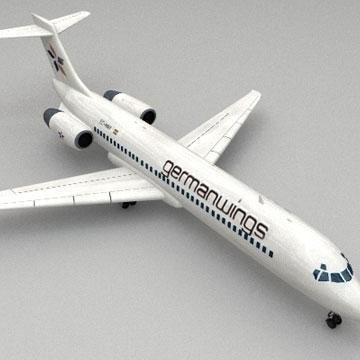boeing 717 3d model 3ds lwo 78983