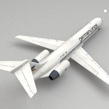 boeing 717 3d model 3ds lwo 78985