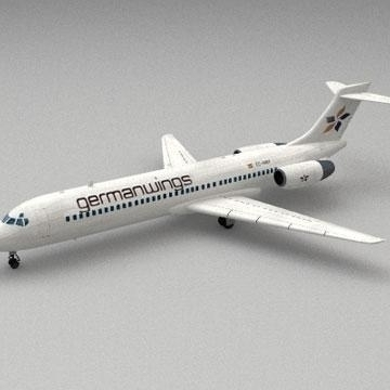 boeing 717 3d model 3ds lwo 78987