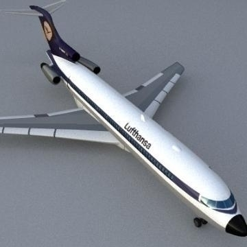 boeing 727 3d model 3ds lwo 78964
