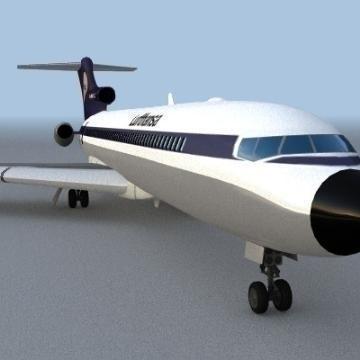 Boeing 727 3d líkan 3ds lwo 78965