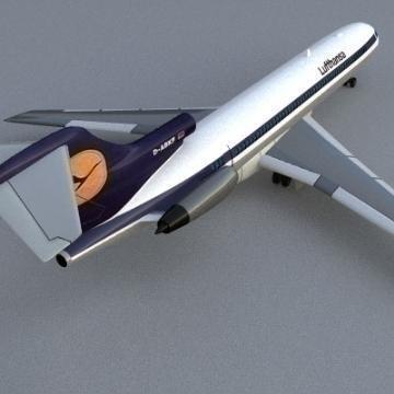 Boeing 727 3d líkan 3ds lwo 78966