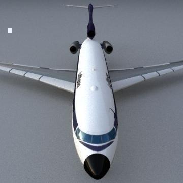 Boeing 727 3d líkan 3ds lwo 78967