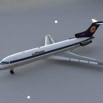 Boeing 727 3d líkan 3ds lwo 78968