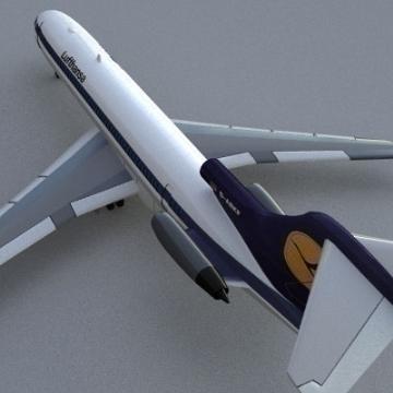 Boeing 727 3d líkan 3ds lwo 78969