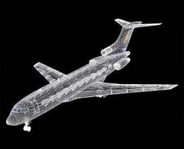 Boeing 727 3d líkan 3ds lwo 78971