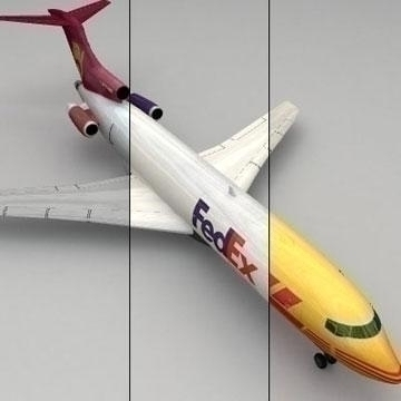 boeing 727 - teretni 3d model 3ds lwo 78973