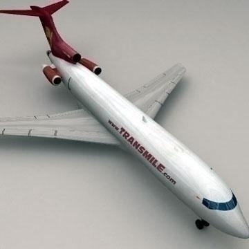 boeing 727 – cargo 3d model 3ds lwo 78974