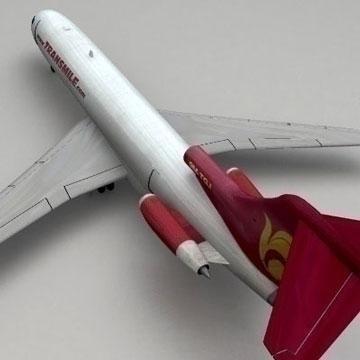 boeing 727 - kravas 3d modelis 3ds lwo 78975