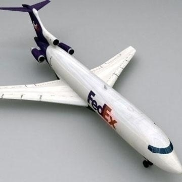 boeing 727 – cargo 3d model 3ds lwo 78976