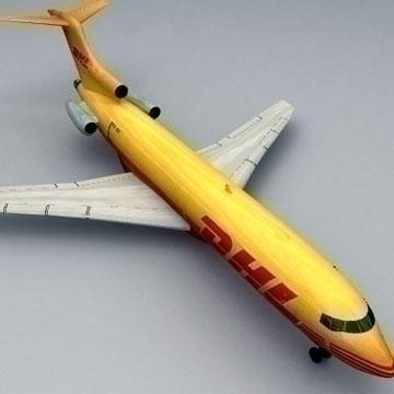 boeing 727 – cargo 3d model 3ds lwo 78978