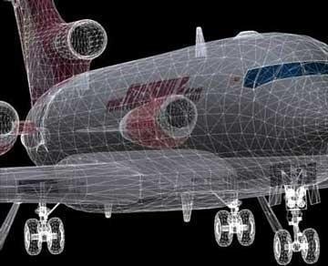 boeing 727 - kravas 3d modelis 3ds lwo 78980