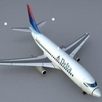 boing 737-200 3d model 3ds dvokomponentni