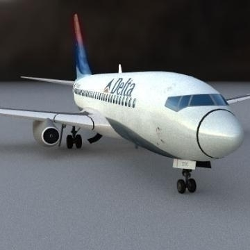 boeing 737-200 3d model 3ds lwo 78957