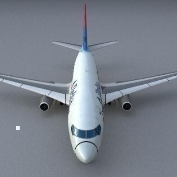 boeing 737-200 3d model 3ds lwo 78959