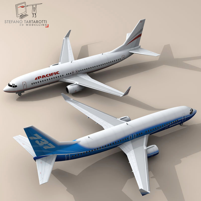 Boeing 737-800 3d model 3ds dxf c4d obj 94882