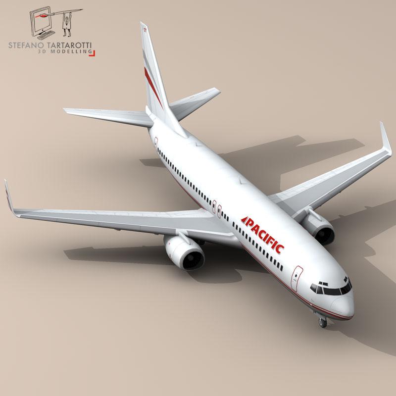 boeing 737-800 3d model 3ds dxf c4d obj 94886