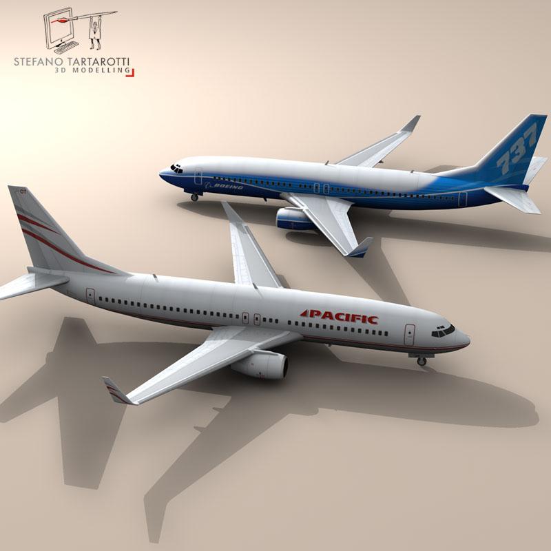 boeing 737-800 3d model 3ds dxf c4d obj 94887